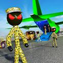 Stickman Army Transporter Airplane Cargo icon