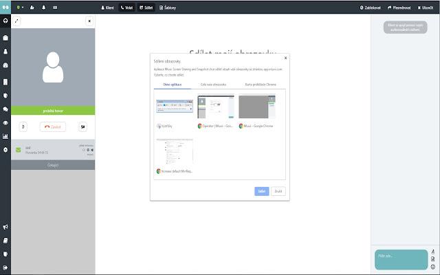 Mluvii Screen Sharing and Snapshot