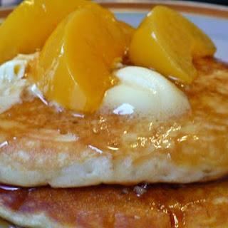 Peach & Brown Sugar Pancakes.