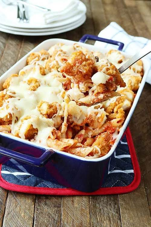"Chicken Parmesan Bake""It has all the delicious flavor of traditional chicken parm,..."