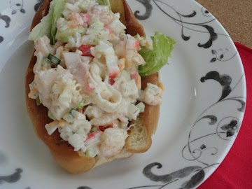 Grilled Seafood Sandwich Roll Recipe