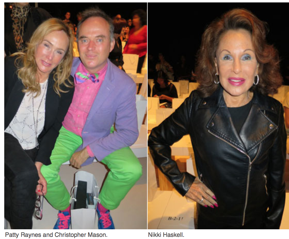 Karen Klopp, Hilary Dick article for New York Social Diary, What to wear to New York Fashion Week Patty Raynes, Christoper Masson, Nikki Hasskell.