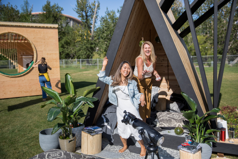 Kelly Kim and LeAnne Bunnell style stargazer reading fort for camp kindle in calgary