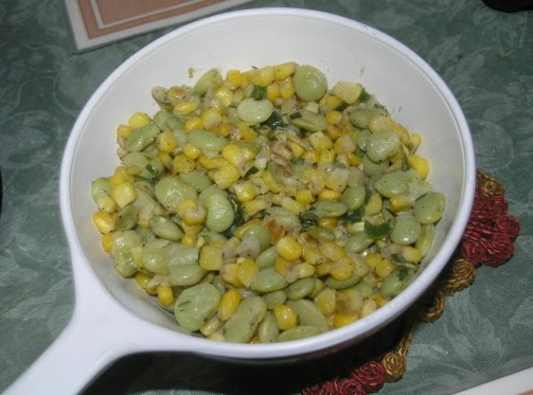Lima Beans And Roasted Corn Recipe