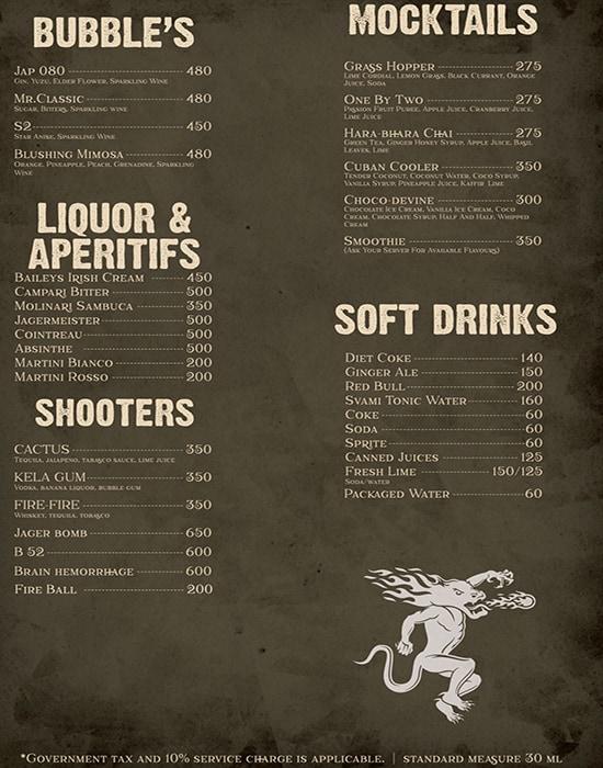 Brother Barley Brewing Company menu 2