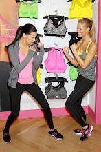 Photo: -New York, NY - 01/15/2013 - Victoria's Secret Angels Kick Off a Healthy & Fit New Year with Victoria's Secret Sport-PICTURED: Adriana Lima, Erin Heatherton-PHOTO by: Marion Curtis/Startraksphoto.com-Filename: MC618021-Location: Victoria's Secret Herald SquareEditorial - Rights Managed Image - Please contact www.startraksphoto.com for licensing feeStartraks Photo New York, NY For licensing please call 212-414-9464 or email sales@startraksphoto.com