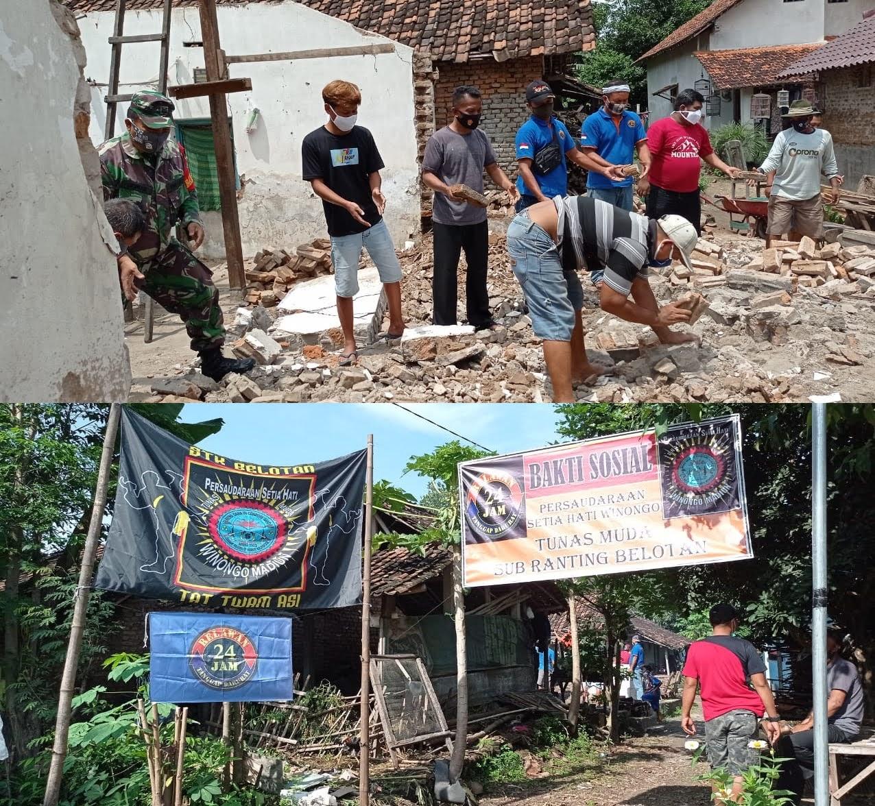 Relawan 24 Jam Bedah Rumah di Desa Belotan