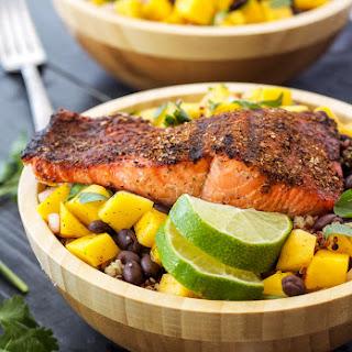 Caribbean Salmon Quinoa Bowls