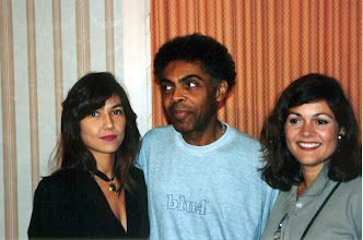 Photo: With Brazilian composer Gilberto Gil & Love 94's radio personality Gina Martell