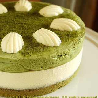 Matcha Tea And Mascarpone Tart.