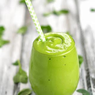 Banana Mango Avocado Green Smoothie + A Reader Survey!
