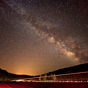 I70 Milky Way by Jamie Link - Landscapes Starscapes ( beaver creek ski resort, highway i70, jamie link photography, beautiful mountains, colorado wilderness, night landscape photography, beautiful landscapes, colorado, astrophotography, colorado mountains, milky way galaxy photography )