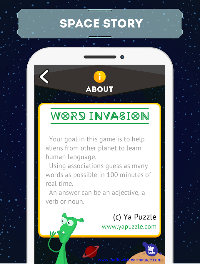 Word Invasion: associations- screenshot