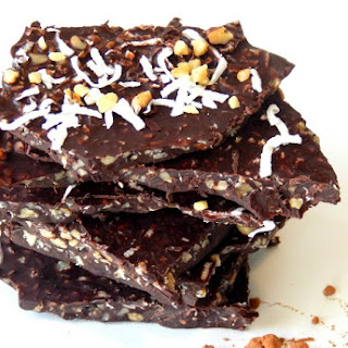 "Good For You ""Coconut Oil"" Chocolate Bark."