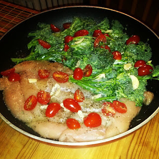 [Recipes] Pan-Seared Italian Chicken & Broccolini — Low Carb, Cals.