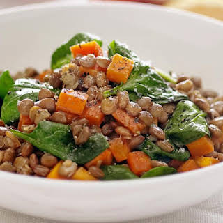 Lentils with Spinach and Soy Sauce.