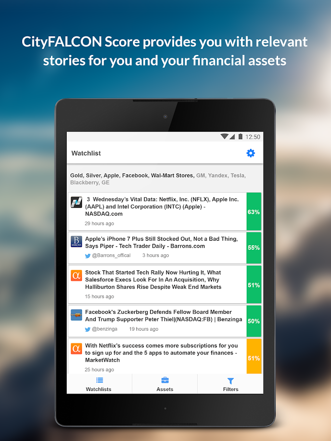 CityFALCON - Financial News- screenshot