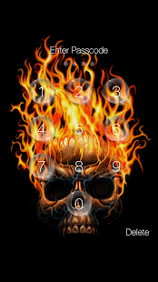 Skull Pin Lock Screen - náhled