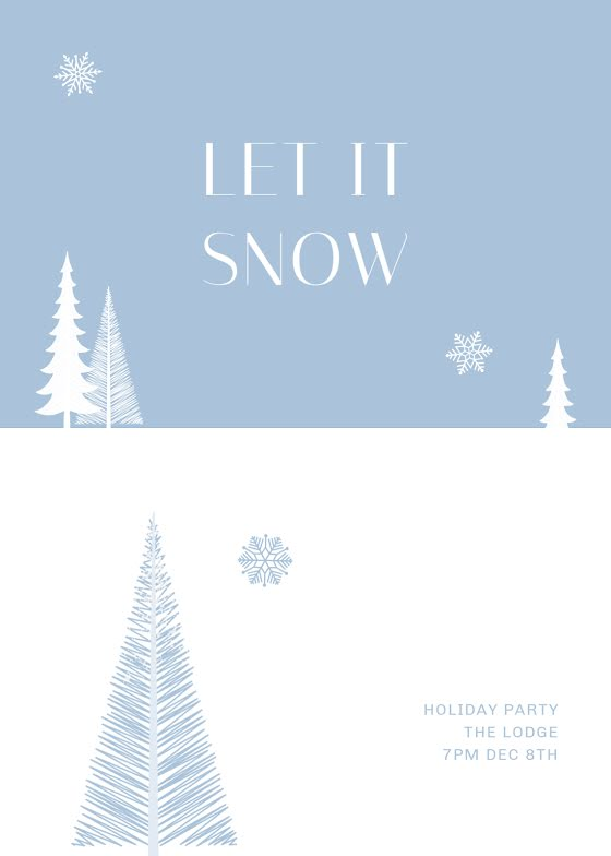 Let It Snow Holiday - Christmas Card Template
