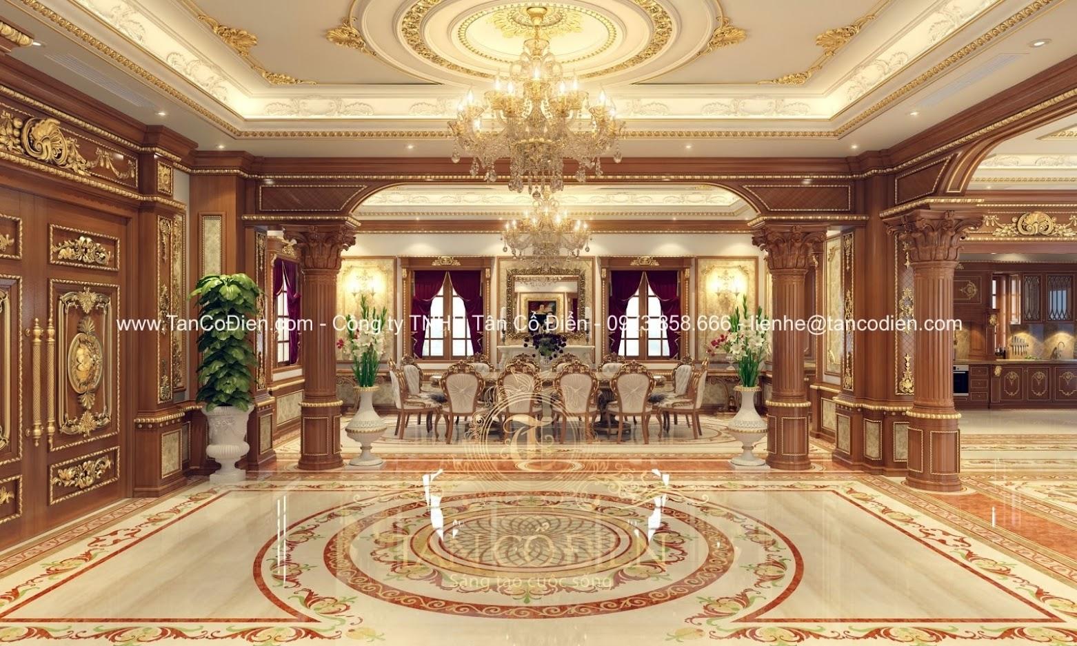 Phòng khách phong cách tân cổ điển