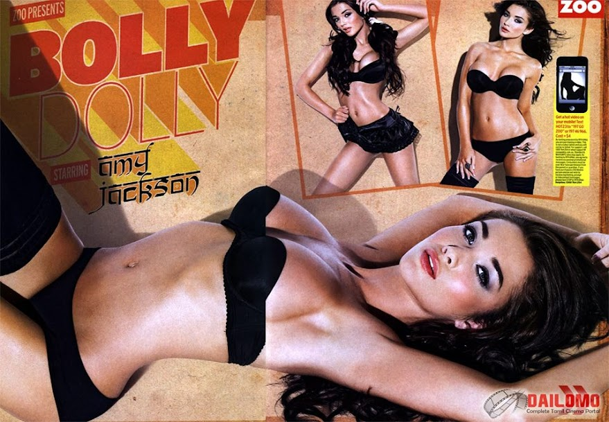 Amy Jackson in Black Bikini, Amy Jackson Navel Photos