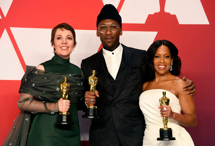 Olivia Colman, winner of Best Actress, Mahershala Ali, winner of Best Supporting Actor, and Regina King, winner of Best Supporting Actress, at the 91st Annual Academy Awards on February 24 2019 in Hollywood, California.