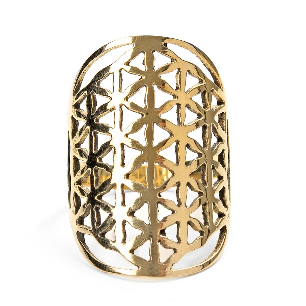 Flower of Life, ring i brons