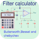 Filter calculator- RC, RL, RLC and active filter 1.4