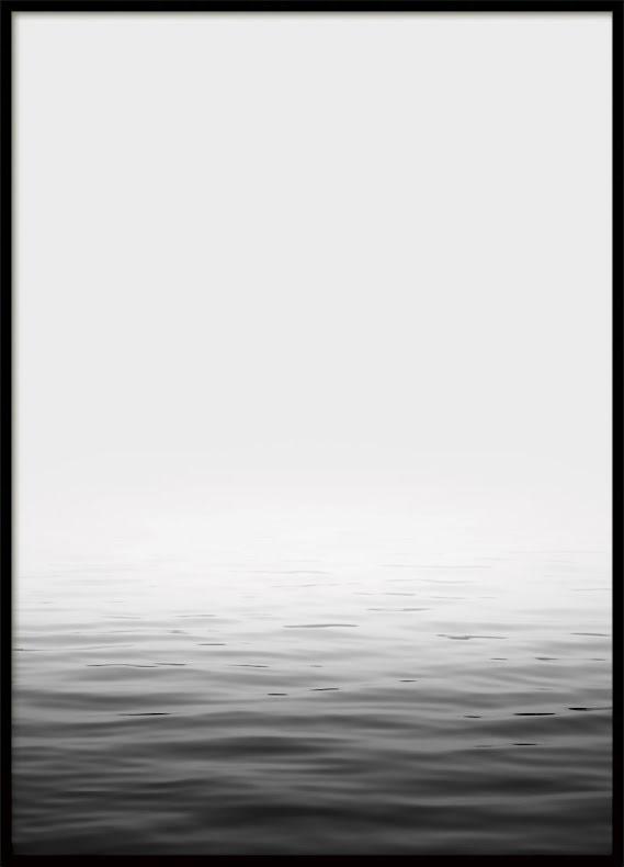 Calm Ocean Bw