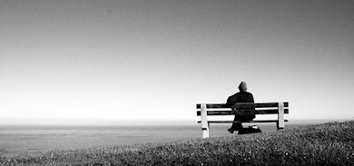 A person sitting on a bench