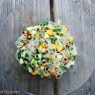 Supremely Crunchy Kelp Noodle Salad.