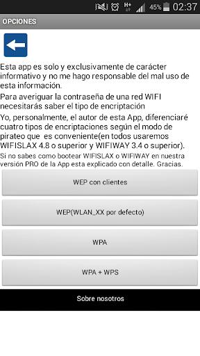 Contraseñas WIFI WPA WEP screenshot 2
