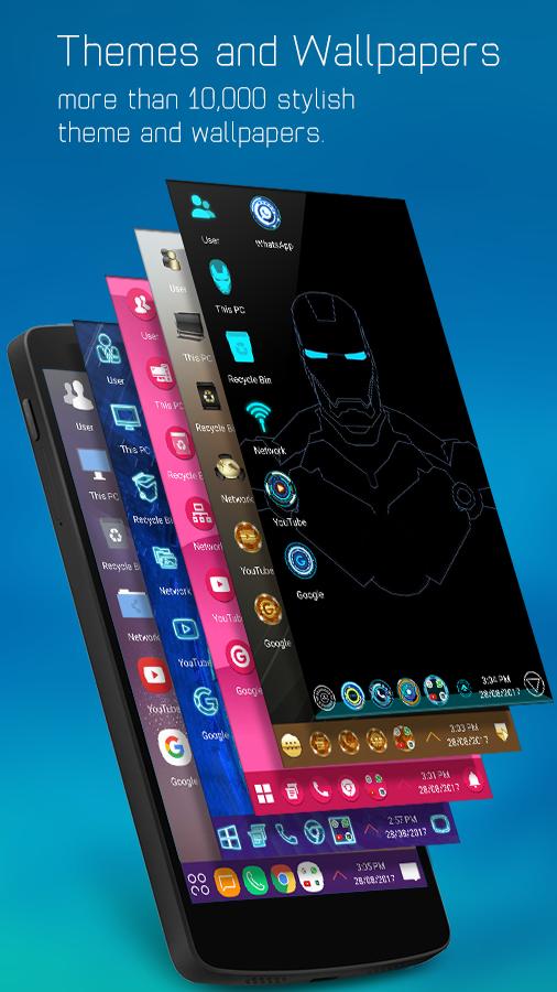 Computer Launcher - Win 10 Style Screenshot 1