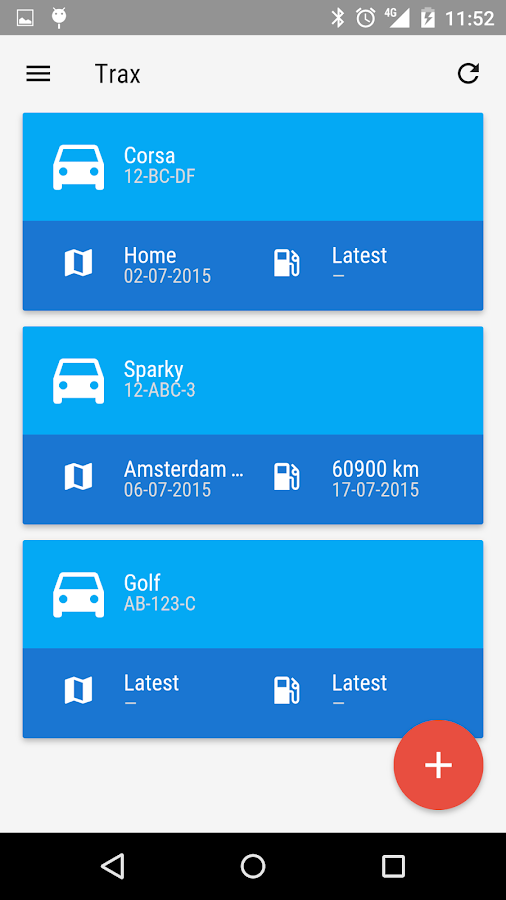 Trax - Trip & Fuel logging- screenshot