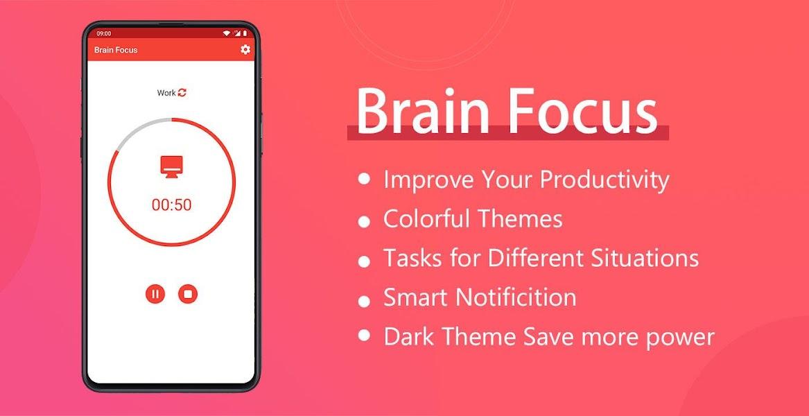 Brain Focus: Pomodoro Tech & Productivity Timer