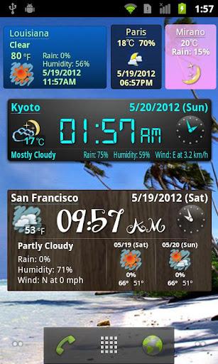 World Forecast Clock Widget screenshot 3