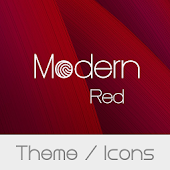 Modern Red Theme + Icons