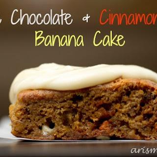 White Chocolate & Cinnamon Chip Banana Cake.