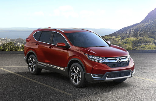 The designers say they have given the 2017 Honda CR-V a more aggressive look.