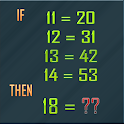 puzzle math number icon