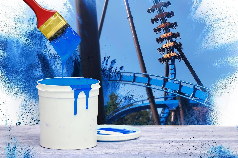 Toverland zoekt items die achtbaanblauw geverfd mogen worden