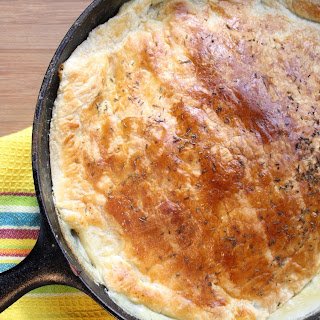Skillet Turkey Pot Pie & the Difference Between Boiling & Simmering