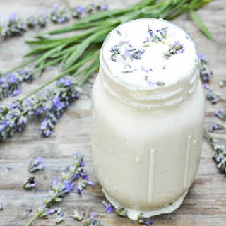Lavender and White Chocolate Boozy Milkshakes.