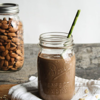 Chocolate-Almond Oatmeal Smoothie.