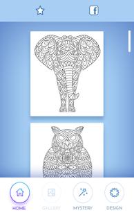 Omalovánky zvířat Mandala - náhled