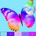 Butterfly Color By Number, butterfly coloring . APK