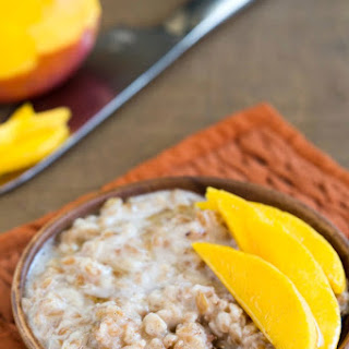 Coconut Mango Breakfast Farro Recipe
