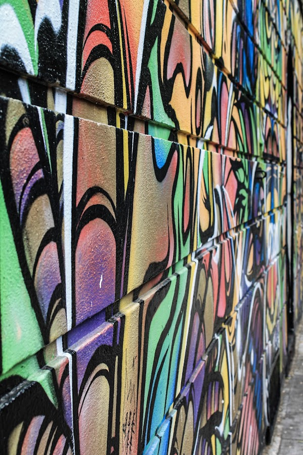 Painted  by Raymond Fitzgerald - City,  Street & Park  Neighborhoods ( street art, london 19, color, graffiti )