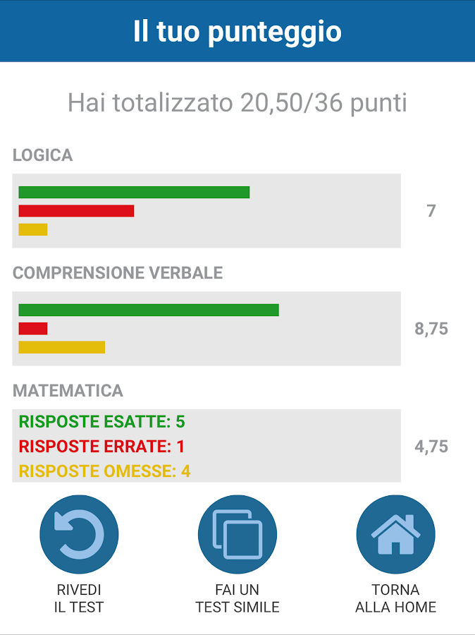 Alphatest economia android apps on google play for Test ammissione economia