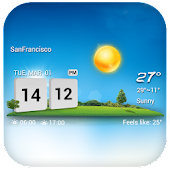 3D Clock & Weather Widget Free